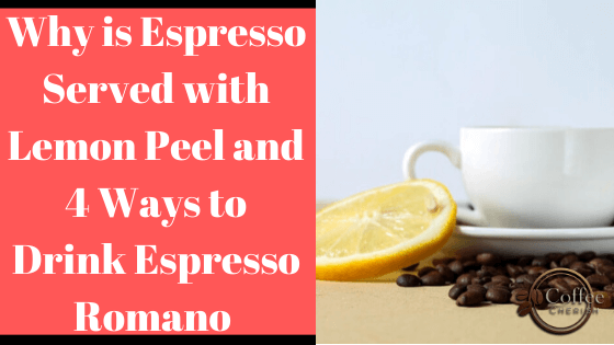 Espresso with Lemon Peel