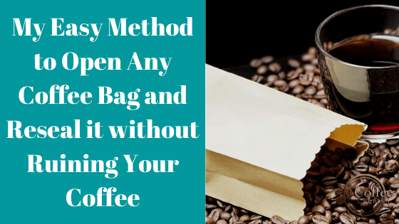 How to Open Coffee Bag and Reseal