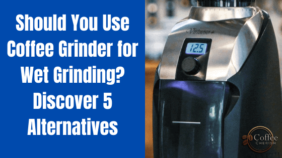 Coffee Grinder for Wet Grinding